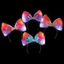 light up bow tie 100 led flashing multicolored light up bow headbands wholesale