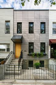 rowhou com bostudio updates brooklyn row house with fibre cement cladding
