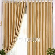 Striped Yellow Curtains Yellow And Gold Striped Toile Blackout Contemporary Fabric Curtains