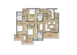 3 Bhk Apartment Floor Plan by Sushma Chandigarh Grande Zirakpur 3bhk 4bhk Flats Dna Realtors
