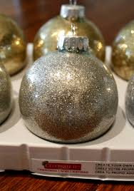and becky craft glitter ornaments