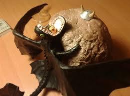 custom night fury dragon lamp breathes fire