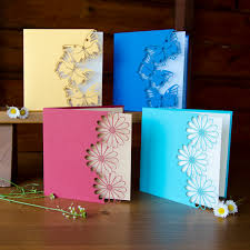 what i always wanted flowers and butterflies card set laser cut