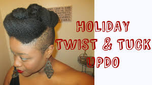 black natural hair with shafed sides natural hair holiday updo shaved sides youtube