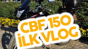 honda sbyar honda cbf 150 first vlog rainy weather istanbul youtube