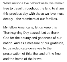 michael on s thanksgiving speech 1985