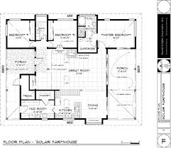 passive solar floor plan w 3 bedrooms note link no longer floorplan for solar farmhouse david wright architect