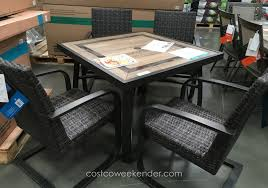 5 Piece Wicker Patio Set Costco Dining Set Outdoor Dimensions 7 Piece Patio Dining