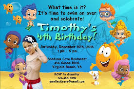 guppies invitations guppies birthday decorations