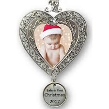 Christmas Ornaments For Baby Amazon Com Baby U0027s First Christmas 2017 Ornament For Newborn