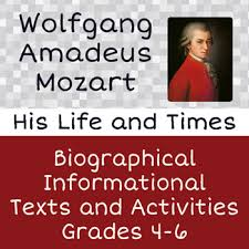mozart biography brief mozart biography reading passages activities by diana bailey tpt