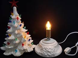 ceramic christmas tree light kit ceramic christmas tree charming decorations with a vintage flair