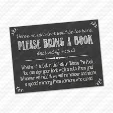 instead of a card bring a book bring a book instead of a card insert for baby shower