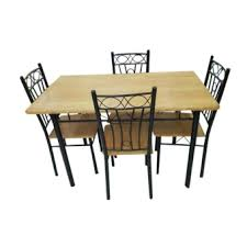 kitchen and dining furniture dining table and chair set ds 4 1 beech lazada ph