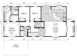 Home Plans For Sloping Lots Stylist Inspiration Ranch Home Design Plans Free 3 Bedroom House