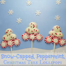 sugartown sweets snow capped peppermint christmas tree lollipops