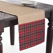 collection décor tartan plaid table runner