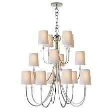 Polished Nickel Chandeliers Reed Extra Large Chandelier Ceiling Circa Lighting