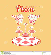 cooking of pizza vector poster infographics stock vector image