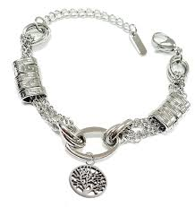 stainless steel bracelet charms images Stainless steel in style trendy bracelet with tree of life charm jpg