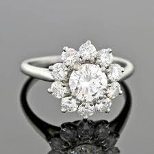 cluster rings cartier diamond platinum cluster ring at 1stdibs