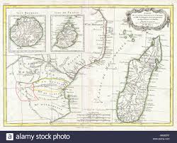 Map Of Eastern Africa by 1770 Bonne Map Of East Africa Madagascar Isle Bourbon And