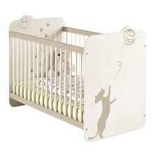 chambre bébé blanc et taupe lit bébé 60x120 cm blanc et taupe achat vente lit bébé