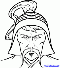 genghis khan of mongol coloring pages how to draw genghis khan