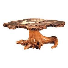 rustic log burl buckeye coffee table king dinettes custom