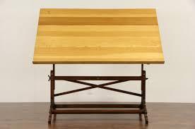 Antique Oak Drafting Table Sold Artist Easel Drafting Table Or Desk 1940 U0027s Adjustable Oak