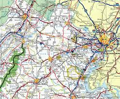 Winchester Virginia Map by Interstate Guide Interstate 66