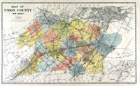 Map Of Essex County Nj Union County New Jersey Usgenweb Genealogy Resources For Union