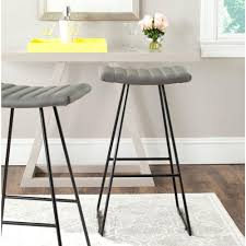 safavieh addo 29 7 in charcoal cushioned bar stool hud8242a the