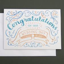 congratulations wedding card cloveranddot
