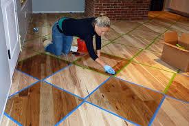 custom dye and staining cut wood flooring