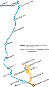 hudson light rail schedule newark light rail wikipedia