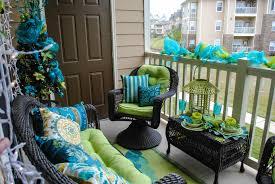 impressive terrace living room in colorful theme inspiring