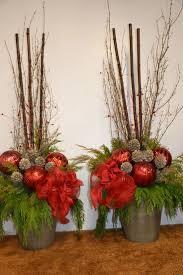 best 25 outdoor christmas planters ideas on pinterest christmas