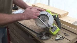 change the blade on a circular saw my ryobi cordless saw gets