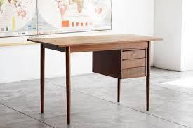 Modern Wood Desk Modern Wood Desk With Floating Drawers Rehab Vintage