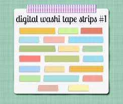 washi tape strips digital clip art graphics scrapbooking