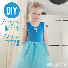 frozen dress for halloween sew a frozen inspired kid u0027s dance costume the diy mommy