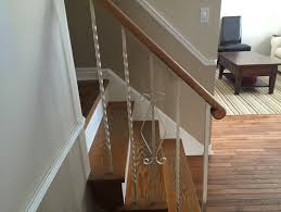 Replacing Banister Ugly Staircase Replace Railings With Wood Or Paint Them Please Help
