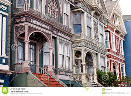 san francisco victorian row houses stock photo image 38999604