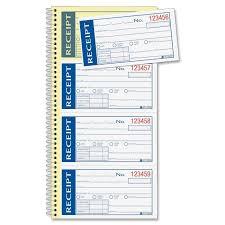 book receipt template receipt book template text amazon com adams write n stick receipt book white canary