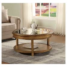 round bevel mirror coffee table metallic gold christopher