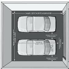 4 car garage size standard two car garage size measuring diagram standard car garage