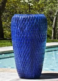 talavera jar in riviera blue by campania international pots