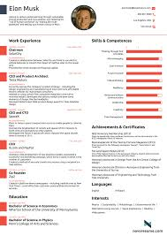 elon musk the world u0027s most successful man has released a cv