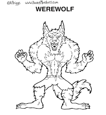 werewolf coloring pages draw 12157